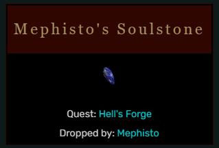 Diablo 2 Mephisto's Soulstone