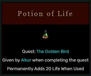 Diablo 2 Potion of Life