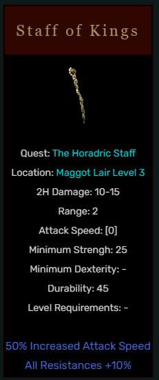 Diablo 2 Staff of Kings