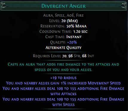 Divergent Anger PoE