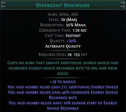 Divergent Discipline PoE