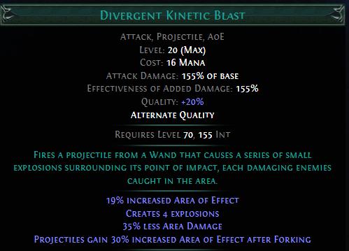 Divergent Kinetic Blast PoE