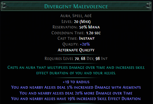 Divergent Malevolence PoE