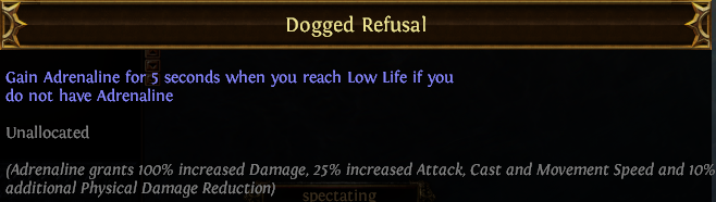 Dogged Refusal PoE