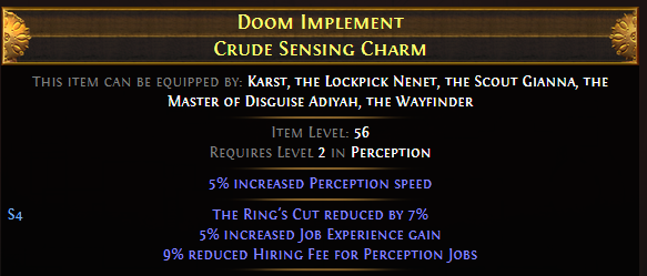 Doom Implement Crude Sensing Charm