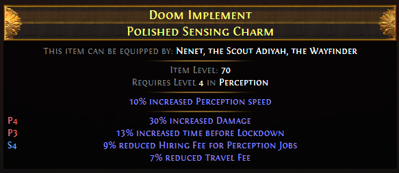 Doom Implement Polished Sensing Charm