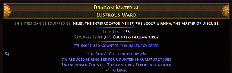 Dragon Material Lustrous Ward