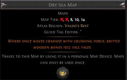 Dry Sea Map PoE