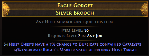Eagle Gorget Silver Brooch