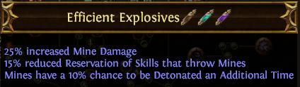 Efficient Explosives PoE