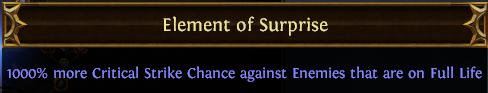 Element of Surprise PoE