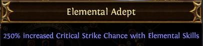 Elemental Adept PoE
