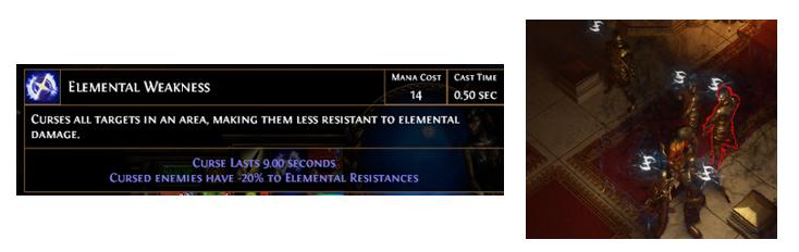 Elemental Weakness Hexes