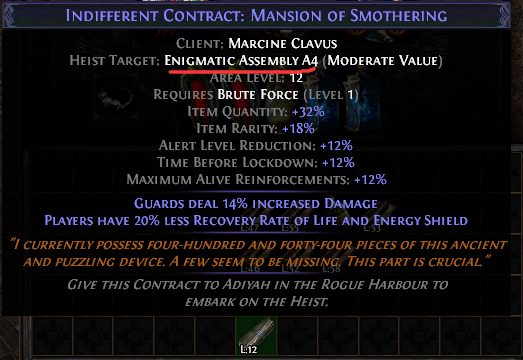 Enigmatic Assembly A4 Contract