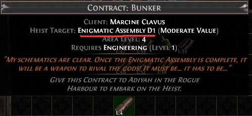 Enigmatic Assembly D1 Contract