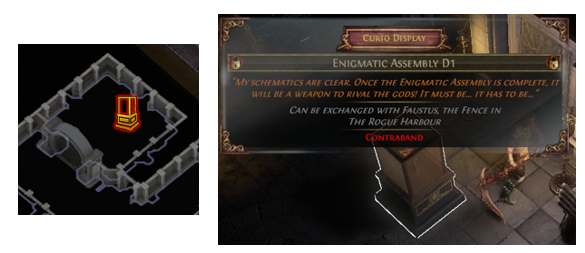 Enigmatic Assembly D1 Location