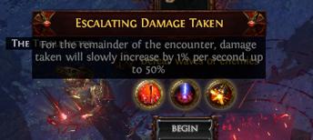 Escalating Damage Taken