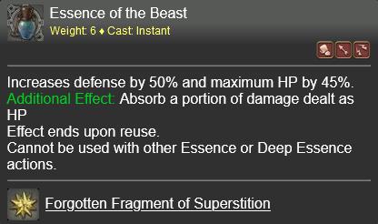 Essence of the Beast FFXIV