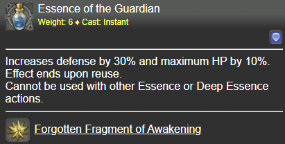Essence of the Guardian FFXIV