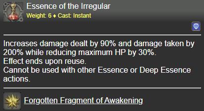 Essence of the Irregular FFXIV