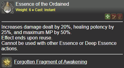 Essence of the Ordained FFXIV