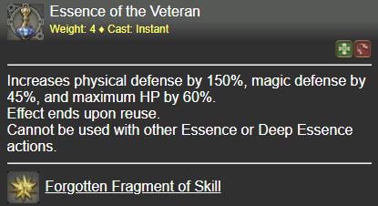 Essence of the Veteran FFXIV