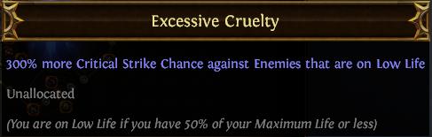 Excessive Cruelty PoE
