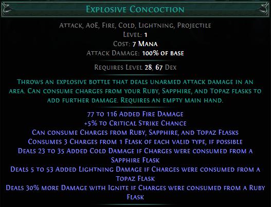 Explosive Concoction PoE