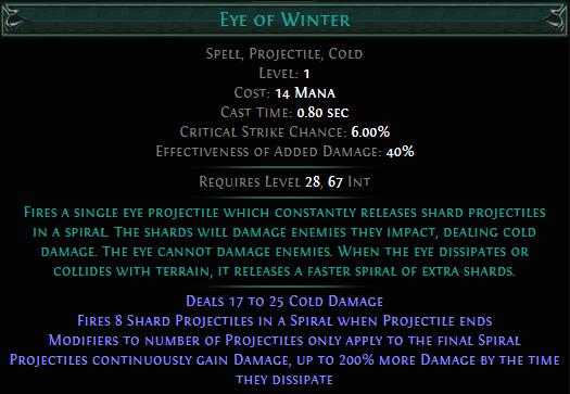 Eye of Winter PoE