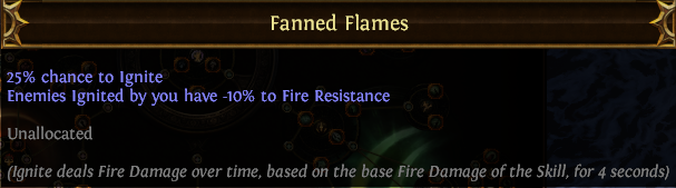 Fanned Flames PoE