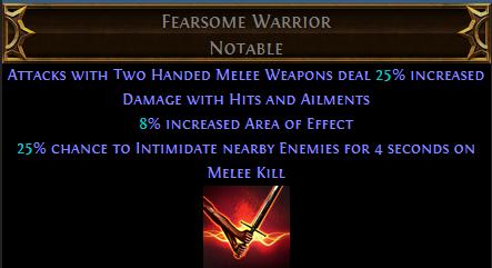 Fearsome Warrior PoE