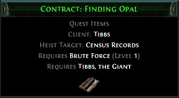 Contract: Finding Opal