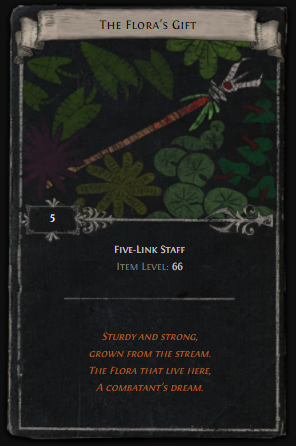 Five Links Divination Card