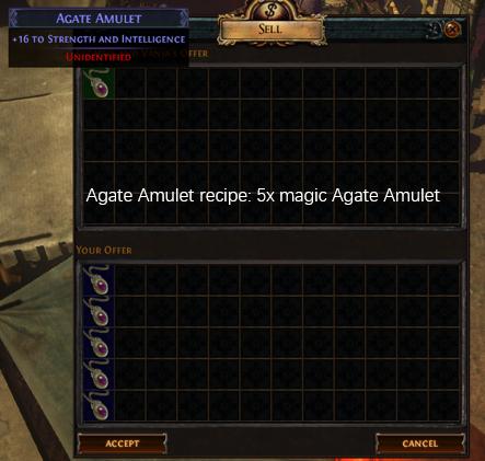 Five magic Agate Amulet recipe
