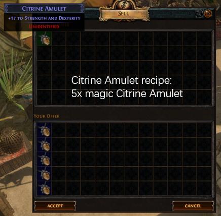 Five magic Citrine Amulet recipe