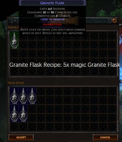 Five magic Granite Flask recipe