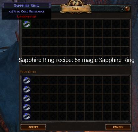 Five magic Sapphire Ring recipe
