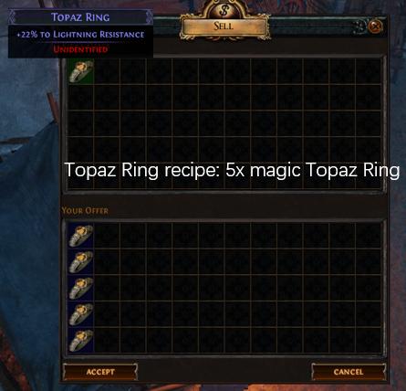 Five magic Topaz Ring recipe