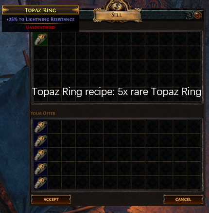 Five rare Topaz Ring recipe