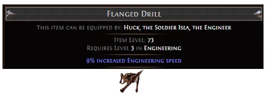 Flanged Drill