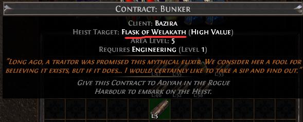 Flask of Welakath Contract