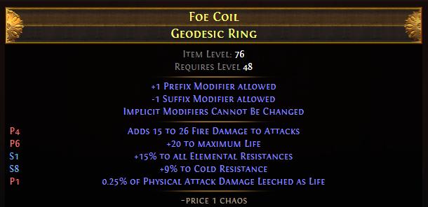 Foe Coil Geodesic Ring