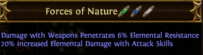 Forces of Nature PoE