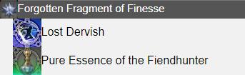 Forgotten Fragment of Finesse FFXIV