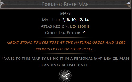 Forking River Map PoE