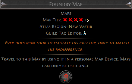 Foundry Map PoE