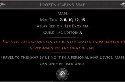 Frozen Cabins Map