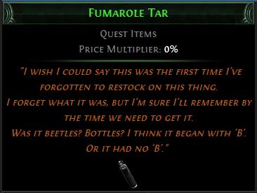 Fumarole Tar