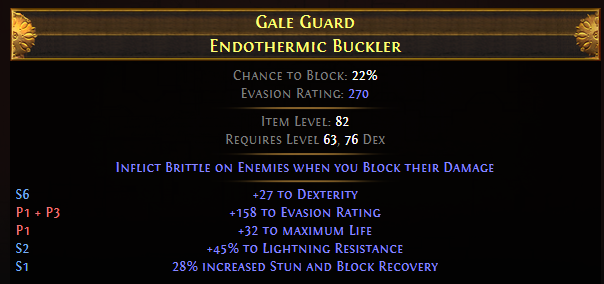Gale Guard Endothermic Buckler