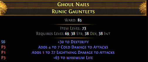 Ghoul Nails Runic Gauntlets